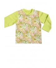 Рубашечка детская с длинными рукавами (возраст до 1года, рост-56-80см) SHIRT SJW 309